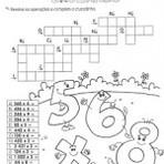 Imagens de palavras cruzadas de matemática para preencher