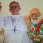 Posando com o Papa