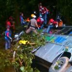 G1 > Ônibus de turismo cai em ribanceira e deixa mortos no Norte de Santa Catarina, diz PRE