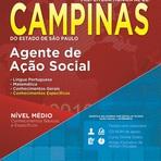 Apostila Prefeitura de Campinas SP 2015 - Agente de Ação Social