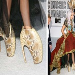 Sapatos bizarros das celebridades