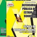 Livros - Apostila TÉCNICO DA DEFENSORIA PÚBLICA - TÉCNICO ADMINISTRATIVO - Concurso Defensoria Pública do Estado / RO 2015
