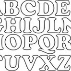 Modelos e moldes de letras para imprimir