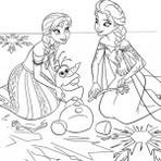 Brincando e colorindo com desenhos da frozen