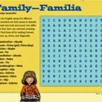 Palavras cruzadas em inglês para crianças.