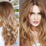 Luzes em cabelos loiros