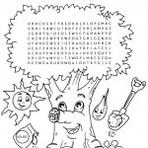 Sugestões em caça palavras infantil, aches as palavras