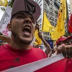 Grupo protesta na av. Paulista contra a falta de água na Grande São Paulo