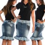 Modelos de saias jeans evangélicas 2015