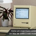 Macintosh anos 80 funcionando internet