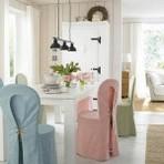 Belas capas para cadeiras de mesa de jantar