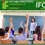 Instituto Federal Catarinense IFC (SC) abre concurso para Professor Magistério (SC)