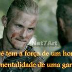 Frase: Vikings, Ragnar Lothbrok (Travis Fimmel). Série History. Imagem.
