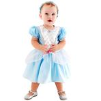 Fantasia Princesa Cristal Luxo Bebê Tam G3 Anos Sulamericana