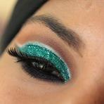 Maquiagem Glitter Verde Dailus