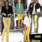 Calças amarelas como usar