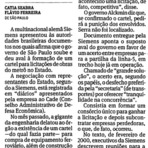 Governo de SP (PSDB) deu aval ao cartel do metrô.