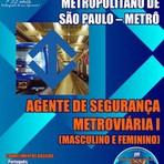Apostila Digital e Impressa Concurso METRÔ-SP 2015 - Agente de Segurança Metroviária I Masculino e Feminino