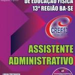 NOVO Concurso Conselho Regional de Educação Física 13ª Região (CREF) ASSISTENTE ADMINISTRATIVO 2015