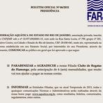 Fla antecipa mensalidade e ajuda Federação de Natação.