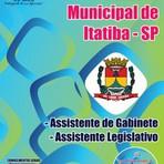 Apostila Concurso Câmara de Itatiba-SP, Assistente de Gabinete e Assistente Legislativo