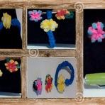 Como fazer Anel e Pulseira com Flor usando garfos e elásticos - Vídeo