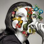 Artista digital Marcelo Monreal mistura celebridades com botânica