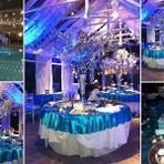 Decoração de festa azul