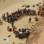Motorista morre após carro cair de falésia na praia de Tabatinga