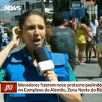 Manifestantes expulsam equipe da Globo News do Complexo do Alemão