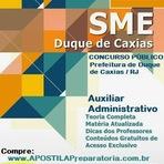 Apostila Concurso SME Duque de Caxias 2015 - Auxiliar Administrativo - Secretaria de Educação (RJ)