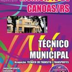 Livros - Apostila TÉCNICO MUNICIPAL - OCUPAÇÃO: TÉCNICO EM TRÂNSITO E TRANSPORTES - Concurso Município de Canoas / RS 2015