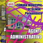 Livros - Apostila AGENTE ADMINISTRATIVO - Concurso Câmara Municipal de Olinda / PE 2015