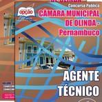 Livros - Apostila AGENTE TÉCNICO - Concurso Câmara Municipal de Olinda / PE 2015