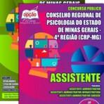 Concurso público do Conselho Regional de Psicologia do Estados de Minas Gerais, para o cargo de Assistente.