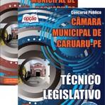 Livros - Apostila TÉCNICO LEGISLATIVO - Concurso Câmara Municipal de Caruaru / PE 2015