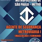 Livros - Apostila AGENTE DE SEGURANÇA METROVIÁRIA I - Concurso Companhia Metropolitano / SP (METRÔ/SP) 2015