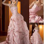 Vestidos de noiva rosa