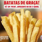 Batatas de graça no Burger King