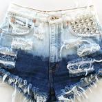 Shorts jeans rasgado