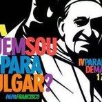 Resultado do Quem sou eu para julgar: Papa Francisco, estampa propaganda da Parada Gay de Maringá, no Paraná