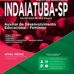 Apostila Concurso Prefeitura de Indaiatuba 2015 - Auxiliar de Desenvolvimento Educacional - Feminino