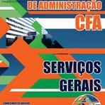 Apostila Concurso Conselho Federal de Administração (CFA) 2015 SERVIÇOS GERAIS - GRÁTIS CD COM EDITAL