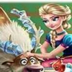 Frozen Elsa Cuidando de Sven