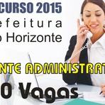 Apostila Concurso Prefeitura de Belo Horizonte 2015 - Assistente Administrativo