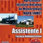 Apostila impressa e Digital Concurso MAPA / INMET Cargo de ASSISTENTE I - TÉCNICO ADMINISTRATIVO
