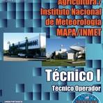 Apostila Impressa e Digital Concurso MAPA / INMET 2015 TÉCNICO I - TÉCNICO OPERADOR
