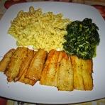 Culinária - Bifinhos de acelga c/ molho de mostarda!