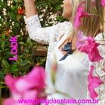 Moda & Beleza - Blog da Estela: Look - saia e kimono