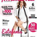 Estefania Villarreal, a Celina da novela 'Rebelde' é capa de revista